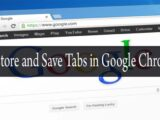 Restore and Save tabs in Google Chrome