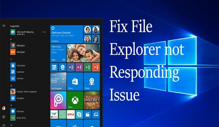 Fix File Explorer Not Responding Issue in Windows 10